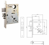 ANSI Commercial Mortise Lock _ Entrance Lock