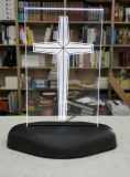 LED cross stand on table