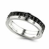18K white gold with black plating Ring OR63002_GW4BR17