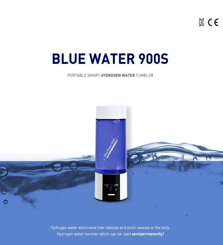 Portable Compact hydrogen water tumbler Bluewater900S