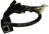 CCTV IP Network vandal proof dome Camera Cable