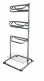 Horse equipment--Three tiers Saddle Rack with accessory basket