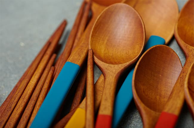 Natural Lacquered Cutlery Set