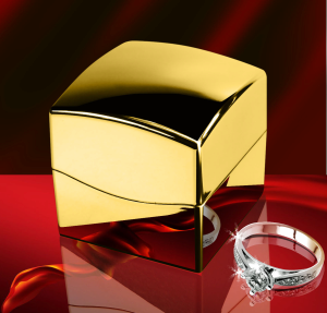 Luxury Gift LCD Digital Jewelry Box Case Ring Box Fashion Beatiful