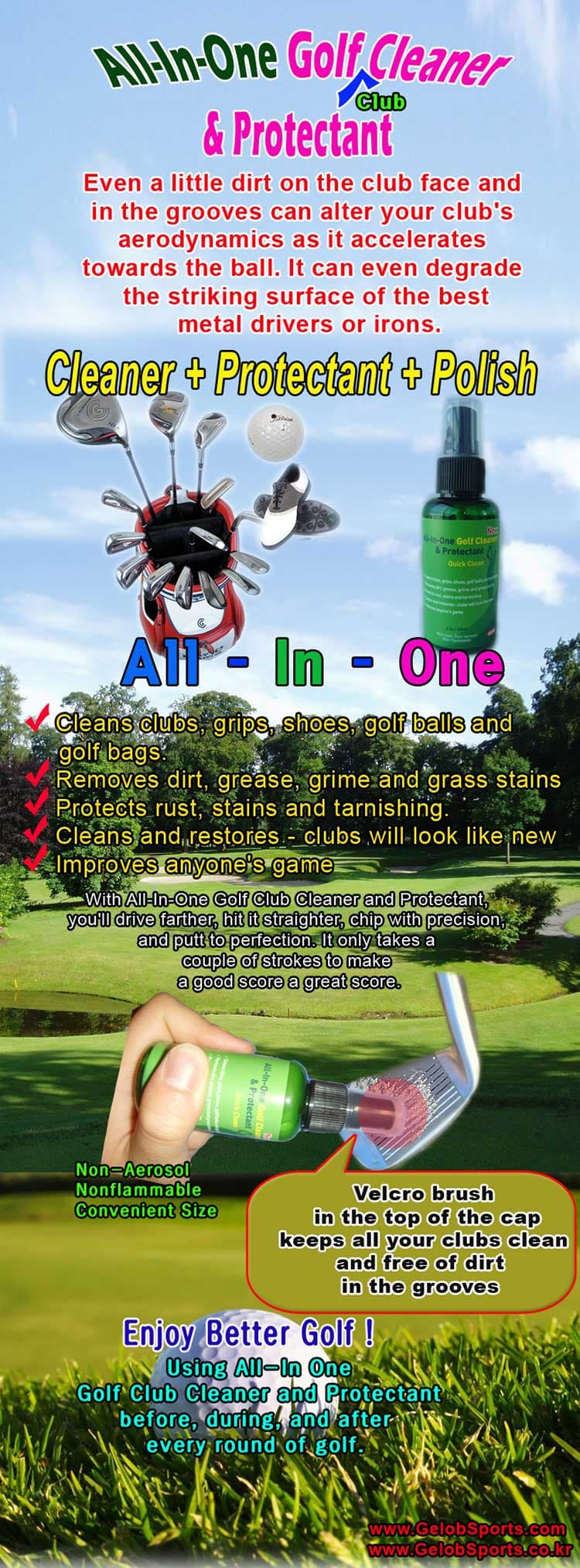 Golf Club Cleaner _ Protectant