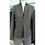 Womens long sleeve jacket with hook _ eye clouser