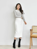 Skirt_ Long Skirt_ Elastic fabric_ Elasticated Bandage