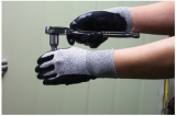 HI-STRENGTH YARN GLOVE WITH NBR COATING.