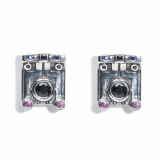 _MEZMIC_16SER0410F_ Square Inka Earrings_925 Sterling Silver