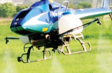 Agricultural unmanned helicopter X-copter