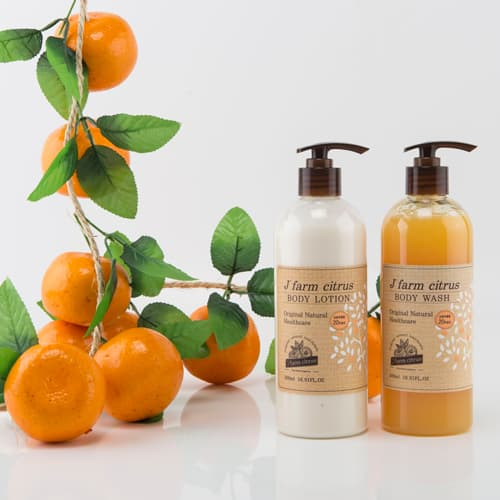 J_ farm citrus body lotion