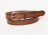 Gradation leather belt for unisex