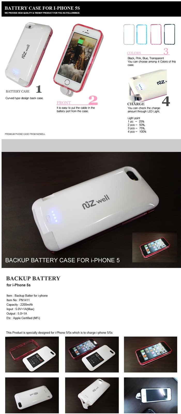 Backup Battery for iPhone 5S