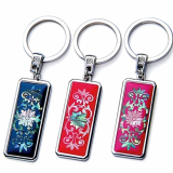 Mother of Pearl KeyRing with Dangcho_Korean Traditional Gift