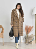Jacket_ Outer_ Coat_ Check Pattern_ Autumn _ Winter Fashion