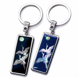 Mother of Pearl Key Ring with Crane_ Korean Traditional Gift