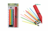 zebra paper pencil 10 pcs tube set