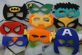 Captain America Spiderman Batman Hulk Robin Felt Eye Masks