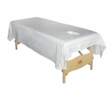 White Satin Massage Table Sheet 235X150cm with Breathhole
