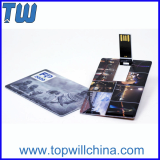 Free Full Color Printing Credit Card Twister Pen Drive 8GB