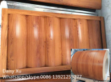 Wood pattern color coated steel sheets for wall panel