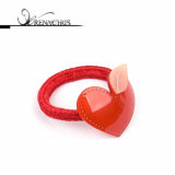 Apple Heart ponytail holder