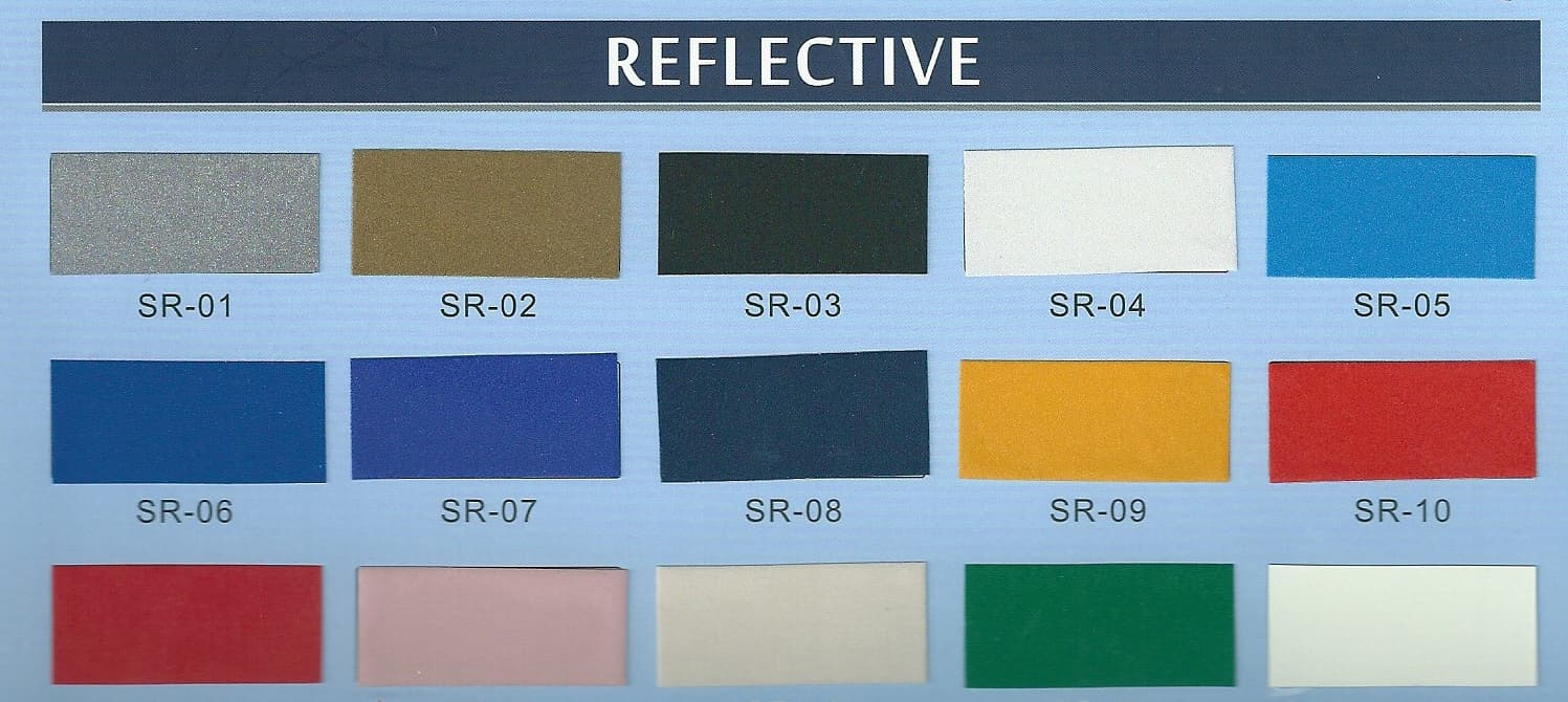 Reflective film for garment