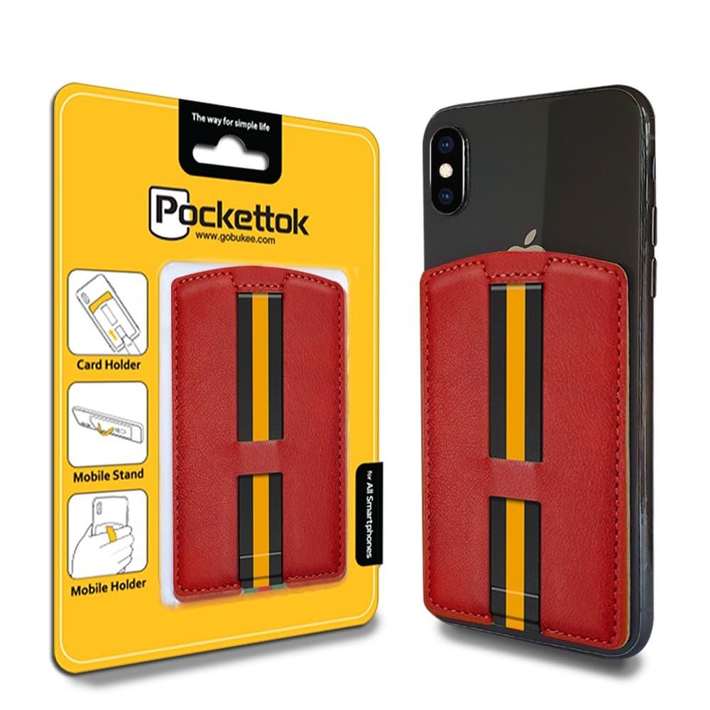 Pocketin card holder_ phone holder_ phone grip_ pop socket_