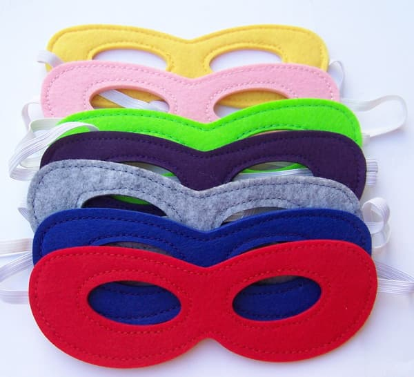 felt superhero eye party mask for party kid birthday gift
