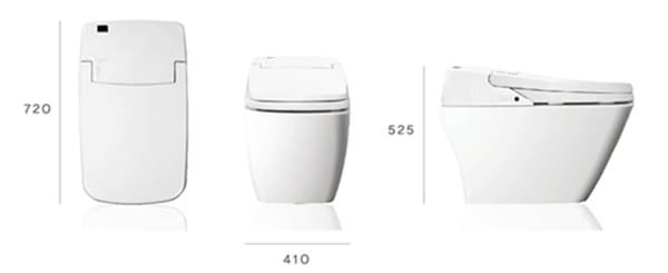 Toilet with built in electronic bidet tcs 080 from prr korea b2b marketplace portal south - Toilet with bidet built in ...