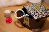 Business Card Box Inlaid with Mother of Pearl Arabesque