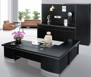 black office table. Product Thumnail Image Zoom. Modern Hi_class Black Office Table O