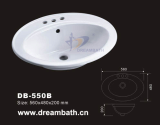 Drop in lavatory sink