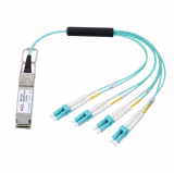 40G QSFP_ to 8x LC Connector Breakout Active Optical Cable