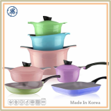 Elegant Colors Excellent Ceramic Coating Cookware Set