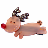 Christmas / X-mas Rudolf S hair clamp