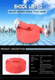 canvas fire sprinkler flexible hose PVC pipe by china supply