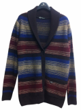 Woman shawl collar cardigan knit