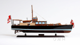 Wooden Model Boat Dolphin Paindted