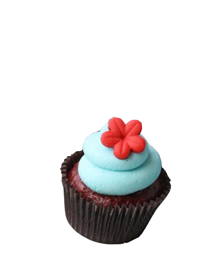 Colored cupcake use glassine paper with glossy surface