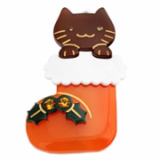 Christmas / X-mas Merry Cat point hairpin