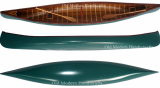 Green Canoe with ribs Model XLarge
