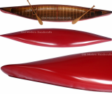Red Canoe with ribs Model XLarge