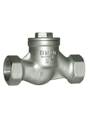 Cast steel flanged_threaded lift_piston check valve