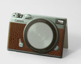 CAMERA brown [Sticky memo pad + Photo frame]