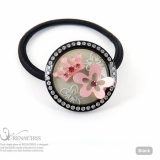 T Flower ponytail holder