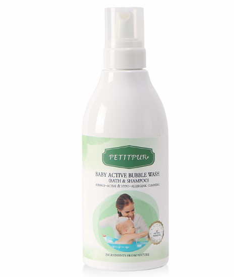 PETITPUR BABY ACTIVE BUBBLE WASH _BATH AND SHAMPOO_