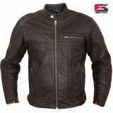 Pure leather jacket double zipper from Sialkot Pakistan