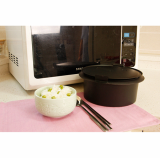 Steam rice cooker for microwave oven
