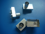 IEC connector with shielding
